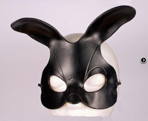 masque cuir bunny